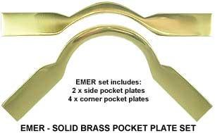 POCKET PLATE 1325 EMERALD BRASS Set - 6 Pce