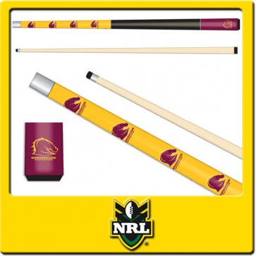 NRL Licensed JUNIOR POOL CUE - Brisbane BRONCOS