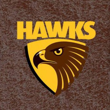 AFL Licensed Pool Snooker Billiards CLOTH 9 Foot - Hawthorn HAWKS