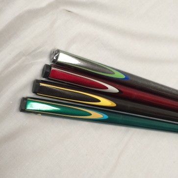 NEW 57 inch graphite pool billiards snooker cue - blue green maroon silver