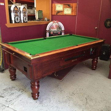 Ex-Pub 7Ft Electronic Coin Op Pool Table With Accessories