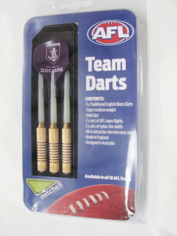AFL Licensed DART SET - Fremantle DOCKERS
