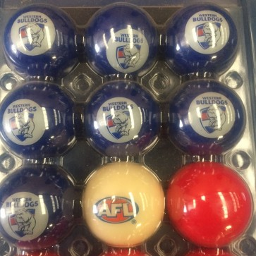 AFL Licensed POOL BALLS - 16 Pack - Western BULLDOGS