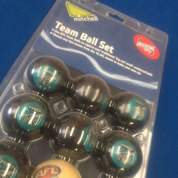 AFL Licensed POOL BALLS - 16 Pack - Port Adelaide POWER