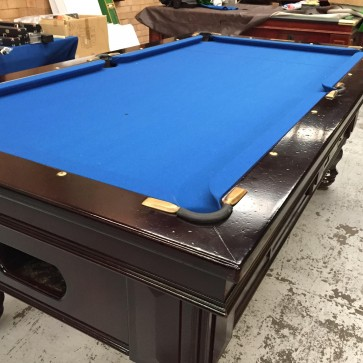 EX Hotel Pub 7 Ft Electronic Coin Op Pool Table Blue Cloth With Accessories