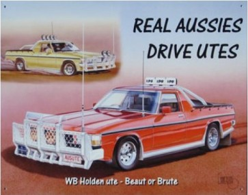 Australian Cars & Transport Holden WB Ute Tin Sign