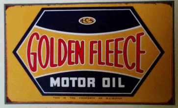 Australian Cars & Transport - Golden Fleece Rusted - Tin Sign