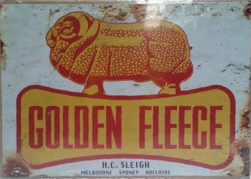 Australian Cars & Transport - Golden Fleece Dogbone (RAM) Rusted - Tin Sign
