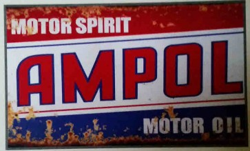 Australian Cars & Transport - Ampol Rusted - Tin Sign