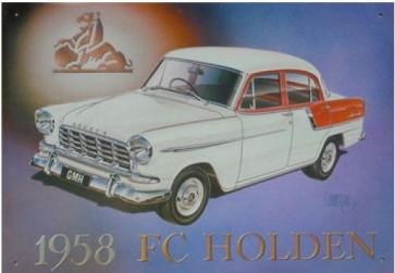Aussie Cars & Transport - 1958 FC Holden - Tin Sign