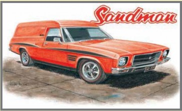 Australian Cars & Transport Holden 1974 HQ Sandman Tin Sign