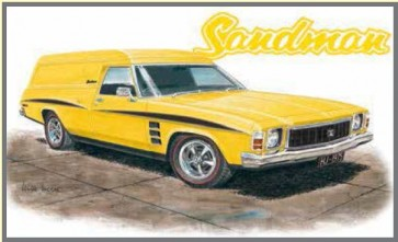 Australian Cars & Transport - Holden 1975 HJ Sandman - Tin Sign