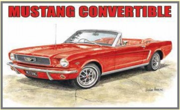Australian Cars & Transport - Ford Mustang 1964 Convertible - Tin Sign
