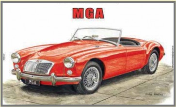 Australian Cars & Transport - MGA - Tin Sign