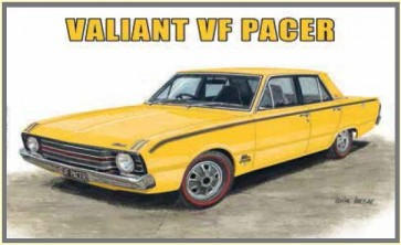 Australian Cars & Transport - Valiant VF Pacer 4 Door Sedan - Tin Sign