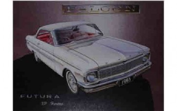 Australian Cars & Transport 1965 Ford Falcon Futura 2D Hardtop Tin Sign