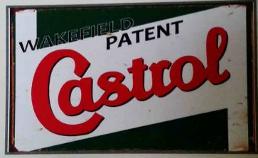 Australian Cars & Transport - Wakefield Patent Castrol Rusted - Tin Sign