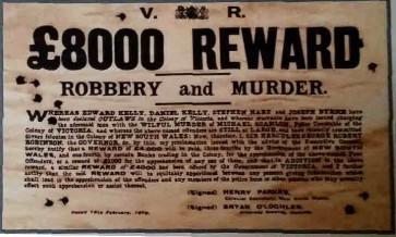 Australian Heritage Series - Kelly Gang 8000 Pound Reward - Tin Sign