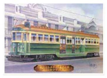 Australian Cars & Transport - Melbourne W2 Class Tram - Tin Sign