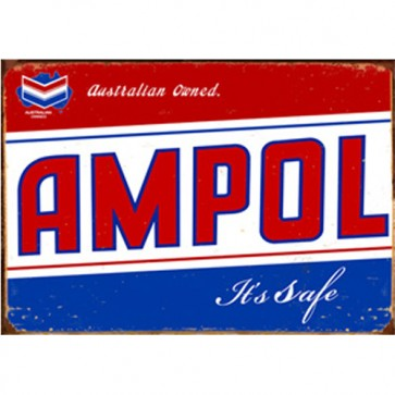 Australian Cars & Transport - Ampol Australia Vintage - Tin Sign