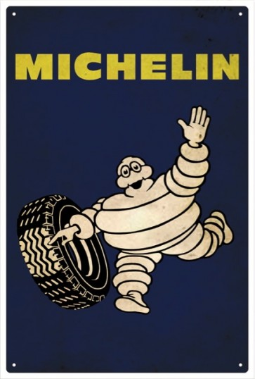 Australian Cars & Transport - Michelin Man Vintage - Tin Sign