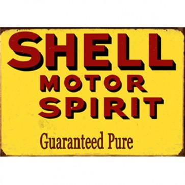Australian Cars & Transport - Shell Motor Spirit Vintage - Tin Sign