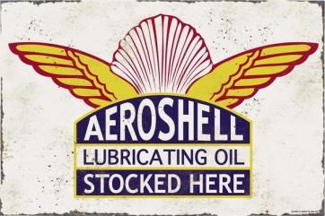 Australian Cars & Transport - Shell Aeroshell - Vintage Tin Sign