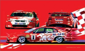 Australian Cars & Transport HRT Holden Racing Team 2001 Tin Sign