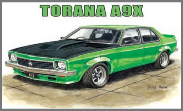 Australian Cars & Transport Torana A9X 4 Door Sedan Tin Sign
