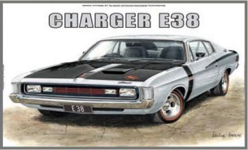 Australian Cars & Transport Chrysler Charger E38 Tin Sign