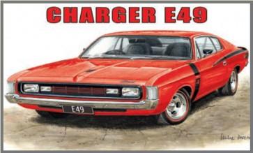 Australian Cars & Transport Chrysler Charger E49 Tin Sign