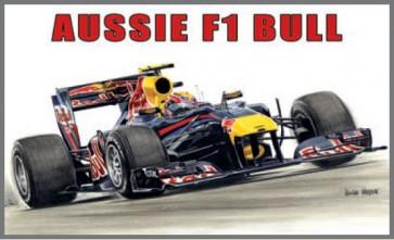 Australian Cars & Transport Mark Webber Red Bull F1 Tin Sign
