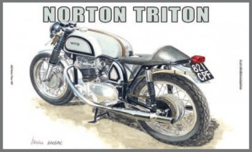 Australian Cars & Transport Norton Triton 1957 Tin Sign