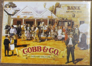 Australian Heritage Series Cobb & Co Overland Stage Line Tin Sign
