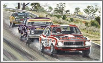 Australian Cars & Transport Threes a crowd 1972 Bathurst Tin Sign