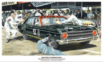 Australian Cars & Transport 1967 Bathurst Ford Falcon XR GT Pitstop Tin Sign
