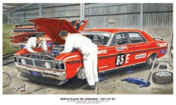 Australian Cars & Transport 1971 Falcon XY GT Workshop Tin Sign