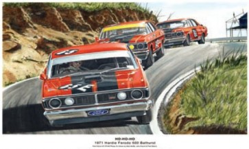 Australian Cars & Transport Ho Ho Ho 1971 Bathurst Falcon XY GT HO Tin Sign