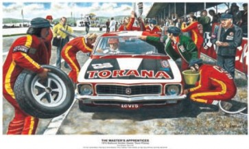 Australian Cars & Transport 1972 XUI Torana Pitstop Tin Sign