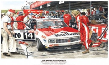 Australian Cars & Transport 1977 Bathurst Torana A9X Pitstop Tin Sign
