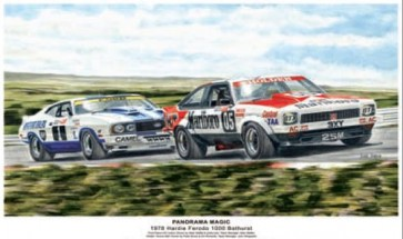 Australian Cars & Transport Panorama Magic 1978 Bathurst Tin Sign