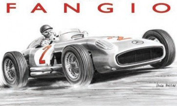 Australian Cars & Transport Fangio Tin Sign