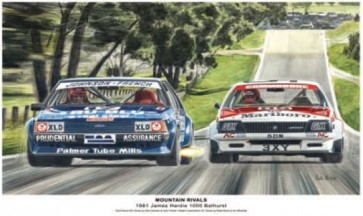 Australian Cars & Transport 1981 Mountain Rivals Tin Sign