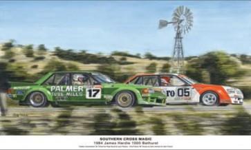 Australian Cars & Transport 1984 Southern Cross Magic Tin Sign
