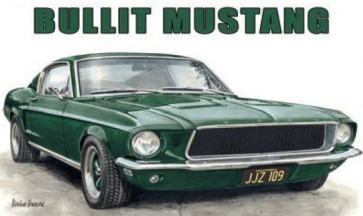 Australian Cars & Transport Ford Mustang 1968 Bullit Tin Sign