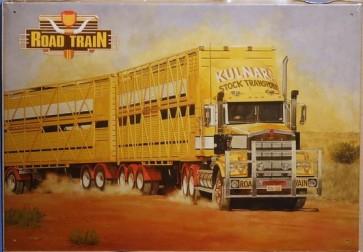 Australian Cars & Transport Road Train Truck Tin Sign