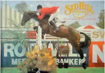 Australian Heritage Series Syd Hill & Sons Show Jumping Horse Tin Sign