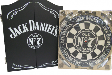 Official Licensed Jack Daniels - Dartboard and Cabinet Set Darts Dart