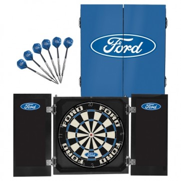 Official Licensed FORD - Dartboard and Cabinet Set