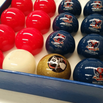 AFL Licensed POOL BALLS - 16 Pack - Melbourne DEMONS